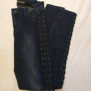 Express Jeans High Rise Braided S…